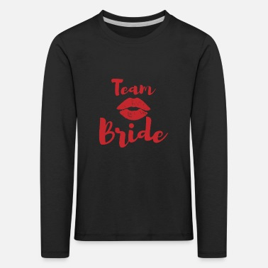 Stag Do Team bride lips wedding gift - Kids' Premium Longsleeve Shirt