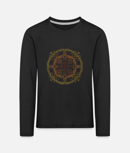 Graphic Art Long-Sleeved Shirts - Circle of Creation - Kids' Premium Longsleeve Shirt black