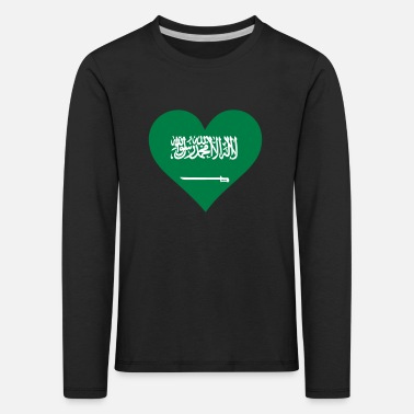 King Salman A Heart For Saudi Arabia - Kids' Premium Longsleeve Shirt