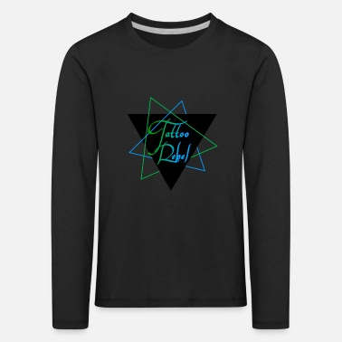 Green Rebel Tattoo Rebel Blue & Green - Kids' Premium Longsleeve Shirt
