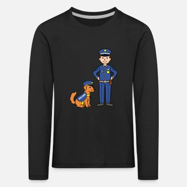 Police Dog Police officer and police dog - Kids' Premium Longsleeve Shirt