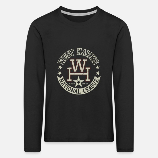 Birthday Long Sleeve Shirts - West hawks - Kids' Premium Longsleeve Shirt black
