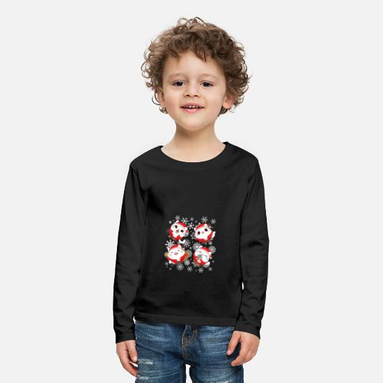 Cats And Dogs Collection Long sleeve shirts - Christmas - gift - cat - cat lover - Kids' Premium Longsleeve Shirt black