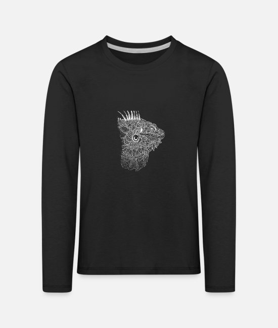 South America Long-Sleeved Shirts - Iguanas Asia - Kids' Premium Longsleeve Shirt black
