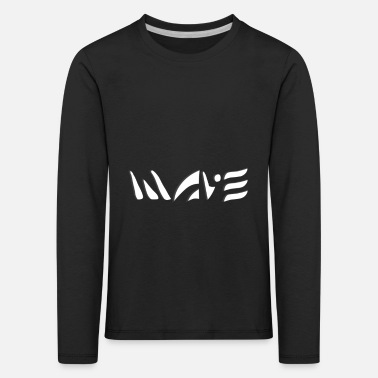 Waving WAVE / WAVE - Kids' Premium Longsleeve Shirt