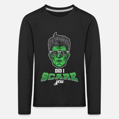 Gifta Sig Scare Scary Halloween Zombie Monster Ghost Gift - Långärmad premium T-shirt barn