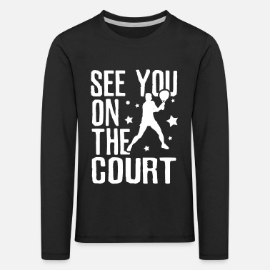 Backhand Tennis backhand - Kids' Premium Longsleeve Shirt