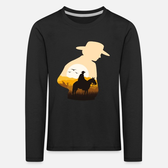 Gift Idea Long Sleeve Shirts - cowboy - Kids' Premium Longsleeve Shirt black