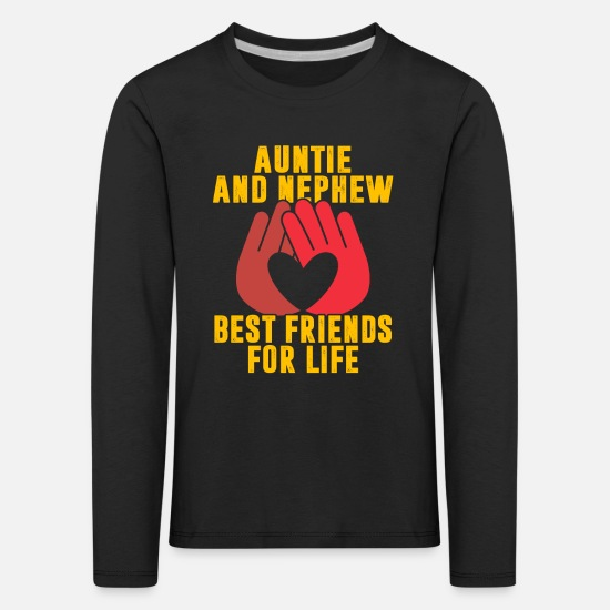 Gift Idea Long sleeve shirts - Aunt and nephew - Kids' Premium Longsleeve Shirt black