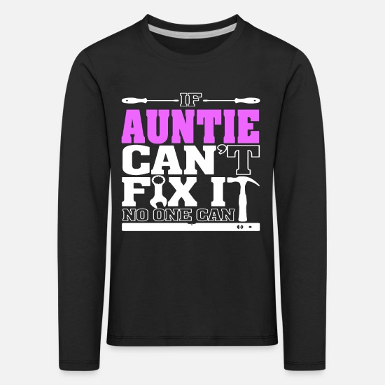 Gift Idea Long sleeve shirts - Auntie aunt nephew family funny - Kids' Premium Longsleeve Shirt black