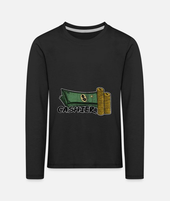 Occupation Long-Sleeved Shirts - Checkout Sale Service Cash Gift - Kids' Premium Longsleeve Shirt black