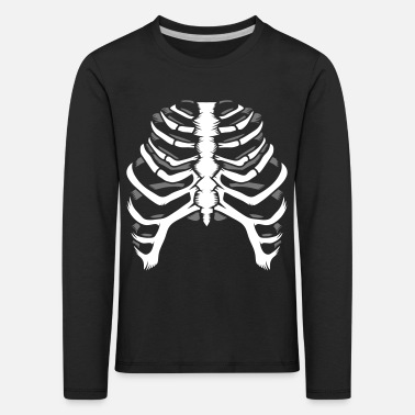 Skeleton Skeleton of a human thorax - Kids' Premium Longsleeve Shirt