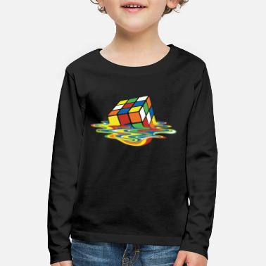 Rubik's Cube Melted Colourful Puddle - Kinderen premium longsleeve