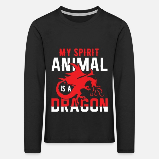 Heat Long Sleeve Shirts - My Spirit Animal is a Dragon - Kids' Premium Longsleeve Shirt black