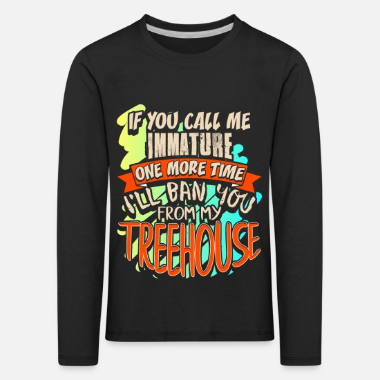 Gift Idea Long sleeve shirts - Build tree house forest - Kids' Premium Longsleeve Shirt black