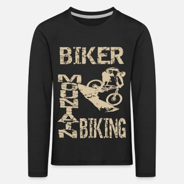Terrain Bicycle in the terrain - Kids' Premium Longsleeve Shirt