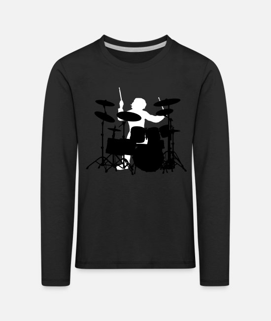 Pearl Long-Sleeved Shirts - Drums - Kids' Premium Longsleeve Shirt black