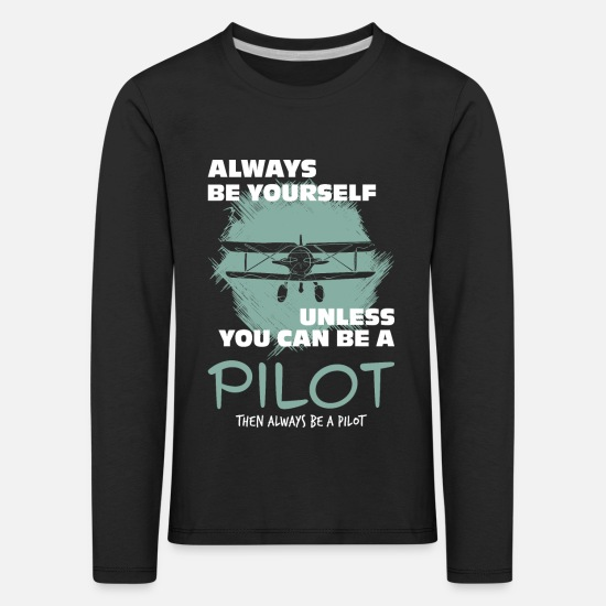 Pilot Long sleeve shirts - pilot - Kids' Premium Longsleeve Shirt black
