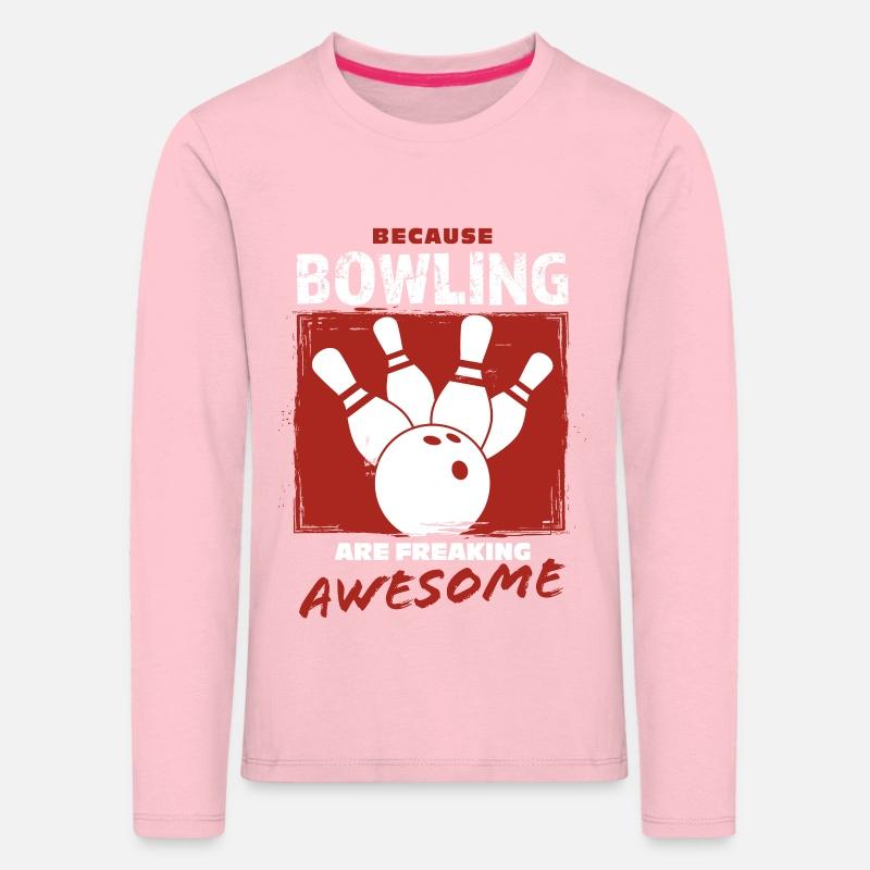 Bowling Bowling Premium langermet T skjorte barn   Spreadshirt