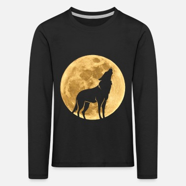 Full Moon Wolf in the moon full moon - Kids' Premium Longsleeve Shirt
