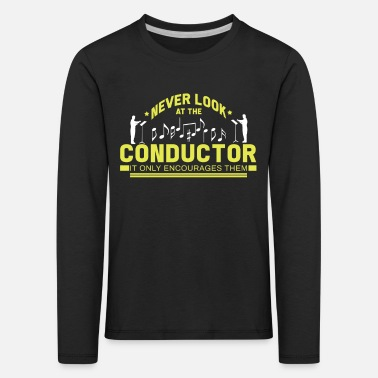 Conductor Maestro Orchestra Choir Conduct Gift - Kids' Premium Longsleeve Shirt
