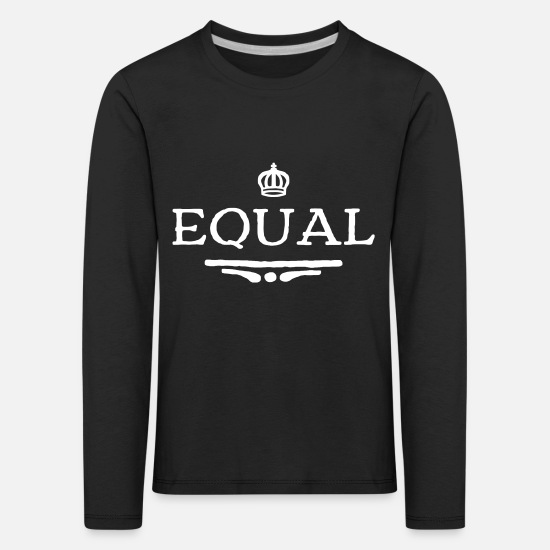 Emancipation Long Sleeve Shirts - Equal - Kids' Premium Longsleeve Shirt black