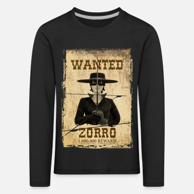 Zorro The Chronicles Wanted Poster - Kids' Premium Longsleeve Shirt
