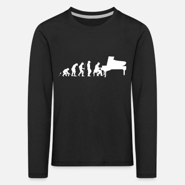 Evolution Pianist Evolution Fun Shirt - Kinder Premium Langarmshirt