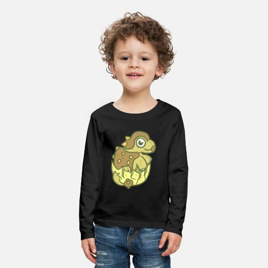 Gift Idea Long sleeve shirts - naughty baby Dino - Kids' Premium Longsleeve Shirt black