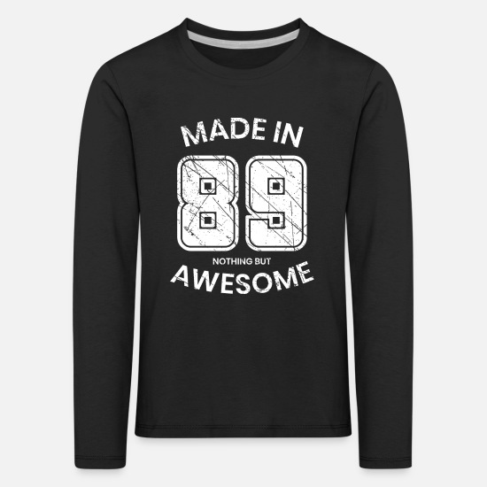 Birth Long sleeve shirts - 1989 year of birth - Kids' Premium Longsleeve Shirt black