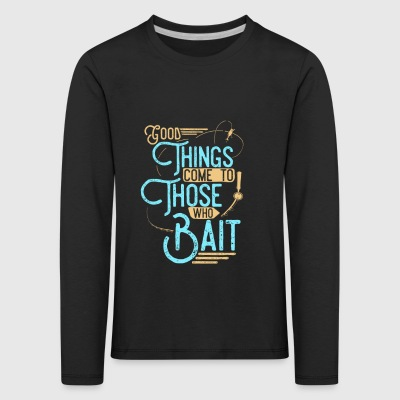 Fishing design fishing bait - Kids' Premium Longsleeve Shirt