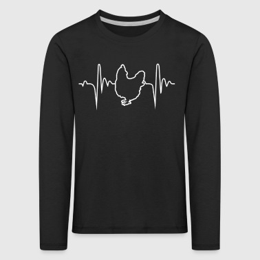 Chicken Hobbies Heartbeat Gift - Kids' Premium Longsleeve Shirt