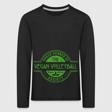 Vegan Volleyball Athlete Society Club Member Gift - Kids' Premium Longsleeve Shirt