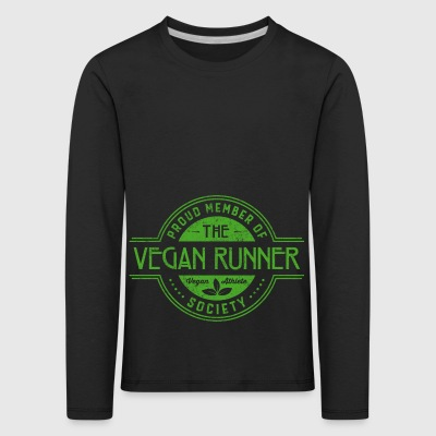 Vegan Runner Athlete Society Club Regalo de miembros - Camiseta de manga larga premium niño