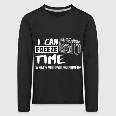 I can freeze time! What's your supernatural ability? - Kids' Premium Longsleeve Shirt