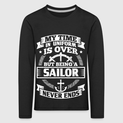 Funny Sail Seiling Sailor Uniform skjorte Tid - Premium langermet T-skjorte for barn