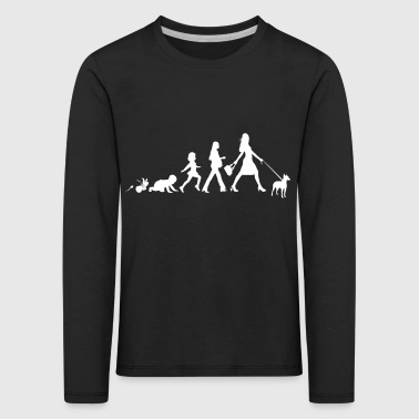 Manchester Terrier Gifts Grow Evolution Woman - Kids' Premium Longsleeve Shirt