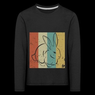 Bunny in Vintage Retro Classic Design - Gift - Kids' Premium Longsleeve Shirt