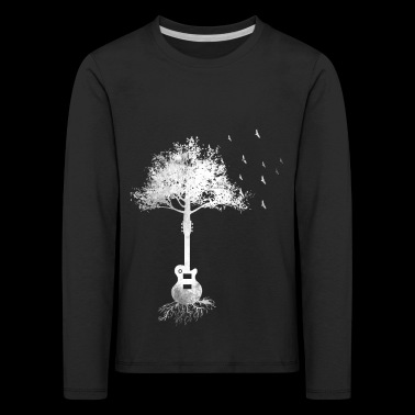 Gift tree guitarist guitar electric guitar eGuitar - Kids' Premium Longsleeve Shirt