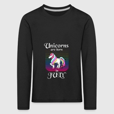 The most beautiful unicorns are born in June - Kids' Premium Longsleeve Shirt