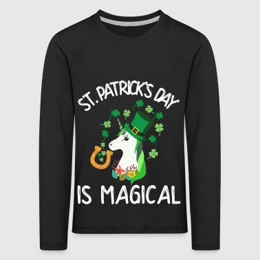St. Patrick's Day is magical - Kids' Premium Longsleeve Shirt