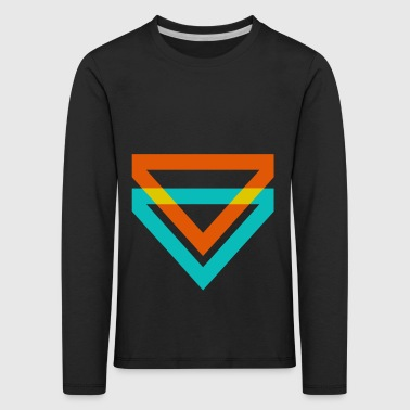 Triangular triangles are a kind of illusion - Kids' Premium Longsleeve Shirt