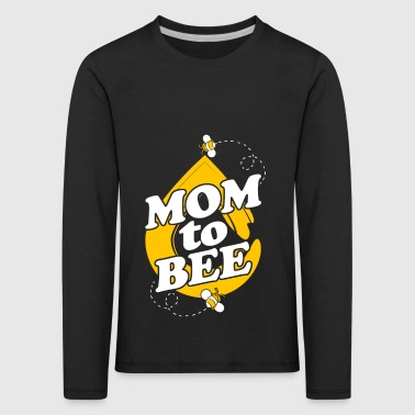 Mère Bee Super Mom Mother Love Gift - T-shirt manches longues Premium Enfant