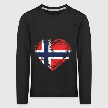 HOME ROOTS COUNTRY LOVE GIFT Norwegen - Kinder Premium Langarmshirt