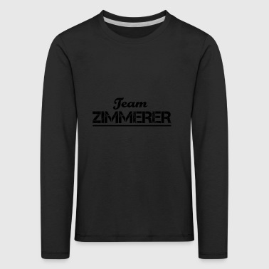 Team Verein Name Crew Party Jga ZIMMERER - Kinder Premium Langarmshirt