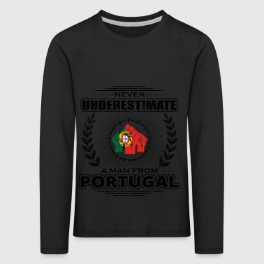 Never underestimate man Roots PORTUGAL png - Kids' Premium Longsleeve Shirt