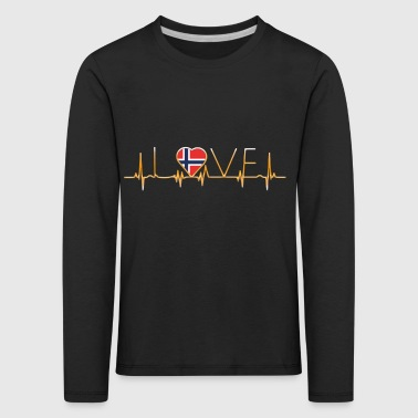 home roots home love heart from Norway - Kids' Premium Longsleeve Shirt
