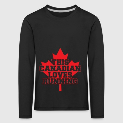 03 this canadian loves running copy - Kids' Premium Longsleeve Shirt