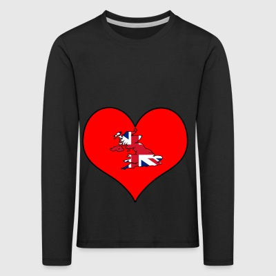 Love Land Europa EU England UK GB - Kinder Premium Langarmshirt