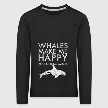 Whales joy fish underwater gift idea sea - Kids' Premium Longsleeve Shirt